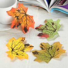 100Pcs Artificial Maple Leaves Autumn Fall Leaf Art Scrapbook Wedding Wall Decor