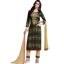 Readymade Ethnic Print Cotton & Embroidery Salwar Kameez Suit Indian-Sheesha-368