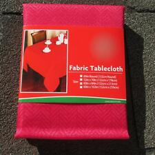 VALENTINE'S~CHRISTMAS FABRIC TABLECLOTH~ALL SIZES~Red Chevron~NEW