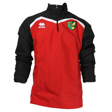 OFFICIAL NORWICH CITY FC 2016-17 PLAYER WORN RAIN JACKET RED/BLACK
