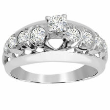 Orchid Jewelry 925 Sterling Silver 1 2/3 Carat White Topaz Engagement Ring