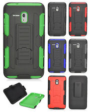 Alcatel OneTouch Pixi Glory A621B Hard COMBO Belt Clip Holster Kickstand Cover
