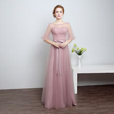 Long Chiffon  Evening Formal Party Ball Gown Prom Women Bridesmaid Dress  HS59