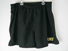 Army Physical Fitness Uniform Shorts, APFU, Military Issue PT Trunks, Yellow