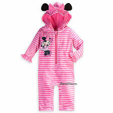 Minnie Mouse Swim Sunsuit for Baby Disney Store 50+ UPF Full body Suit w/Hood