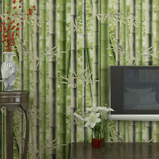 3D 10M Bamboo Classical Natural Style Wallpaper Rolls Non-woven TV Background