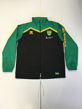 OFFICIAL NORWICH CITY FC 2016-17 STAFF WORN TRAINING RAIN JACKET GREEN/BLACK