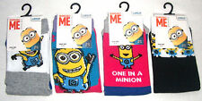 Girls Ladies Despicable Me Minions Socks  Uk Size 4 - 8   New