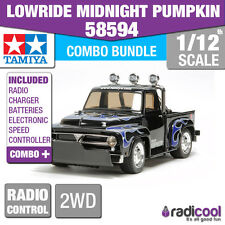 COMBO DEAL! 58594 TAMIYA LOWRIDE MIDNIGHT PUMPKIN 1/12 RADIO CONTROL KIT R/C
