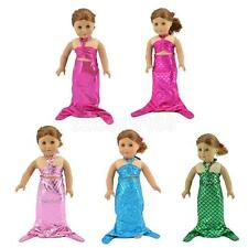 Doll Dress Mermaid Tail Swimwear Clothing for American Girl 18'' Dolls Clothes