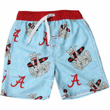 Alabama Crimson Tide Wes & Willy Infant Mascot Swim Trunks - Light Blue - NCAA