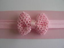 """Assorted Colours Newborn/Baby/Toddler/Girl Headband With 2"""" Crochet Bow"""