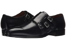 NIB NEW Massimo Matteo  Triple Monk Strap GENUINE LEATHER MADE IN ITALY