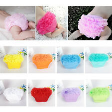 Baby Infant Girls Petti Ruffle Bloomer Briefs Nappy Diaper Cover Panties 3-24M