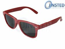 Childrens Red Frame Sunglasses Wayfarer Kids Childs Sunnies UV400 Cool KR003