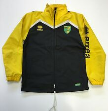 OFFICIAL NORWICH CITY FC 2016-17 STAFF WORN RAIN JACKET YELLOW/BLACK