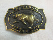 "HERITAGE MINT LTD. SOLID BRASS ""CALIFORNIA-GOLDEN GRIZZLY"" BELT BUCKLE CT-2319"