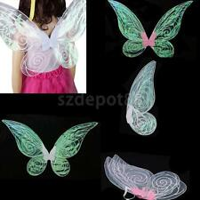 Novelty Adult Kid Shiny Color Changing Butterfly Angel Fairy Wing Party Dress Up