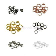 10Pcs Adjustable Round Pad Ring Bases Blank Findings 12mm Cabochon Ring Findings