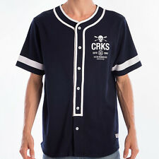 Crooks & Castles The Hoods Baseball Shirt in Navy NWT Crooks FREE SHIPPING