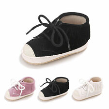 Newborn Baby Toddler Shoes Laces Tassel Soft Sole First Walker Canvas Shoes IB