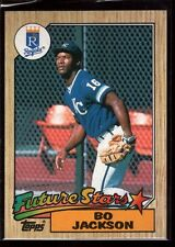 "BO JACKSON MINT KANSAS CITY ROYALS RAIDERS ROOKIE CARD RC 1987 TOPPS #170 ""GEM"""