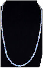 "28"" Inches White Opal Gemstone Round Cabochon Bead Strand-NS1318"