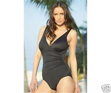 MIRACLESUIT WRAP BLACK D CUP ONE PIECE MIRACLE BATHING SWIMMING COSTUME CRUISE