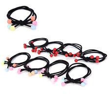 10x Lovely Girls Pearl Hair Ties Rope Ring Bands Elastic Ponytail Accessories