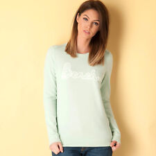 Womens Bench Logo Crew Sweatshirt In Green From Get The Label