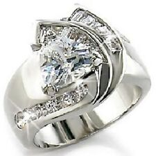 Trillion Trilliant Cut Channel Set Baguettes Cz Engagement Cocktail Wedding Ring