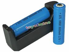 2x 18650 3.7V 5000mAh GTL Li-ion Rechargeable Battery LED Flahlight+ Charger