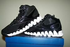 Boy's NEW Reebok ZIGTech ZIG PRO Future Black Basketball Shoes with White Trim