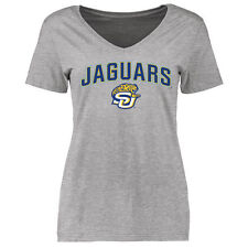Southern University Jaguars Women's Proud Mascot Slim Fit T-Shirt - Ash - NCAA