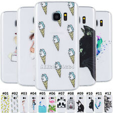 Soft TPU Pictorial Silicone Back Slim Clear Rubber Case Cover For Samsung Galaxy