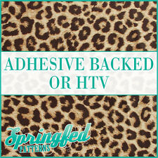 LEOPARD Spots Print Pattern #1 Adhesive Craft Vinyl or HTV Crafts or Shirts!