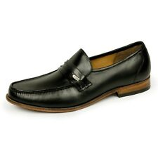 Samuel Windsor Mens Prestige Shoe Black Leather Slip On Penny Loafer Shoes