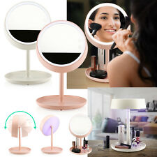 Beauty Cosmetic Table Makeup Mirror Rechargeable LED Lamp Vanity Touch Light