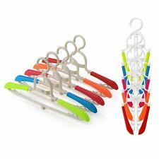 GLCON [Pack of 10] Foldable Travel Hangers,Space Saving Folding Clothes Hanger w