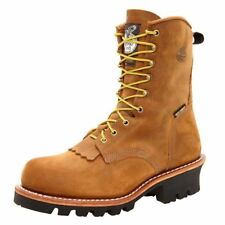 "Georgia Boot Work Mens 8"" ST WP Logger Gore Tex Worn Saddle G9382"