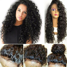 Unprocessed Human Hair Silky Straight Lace Front Wig Glueless Deep Curly Wave us