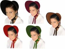 Adult Child Puritan Quaker Pilgrim Lady Amish Pioneer Bonnet  Costume Accessory