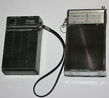 (2) VINTAGE TRANSISTOR POCKET RADIOS RCA SOLID STATE AM & SHARP AM/FM RADIO