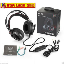 Gaming Headset Over Ear Stereo Bass Gaming Headphone With Noise Isolation Mic