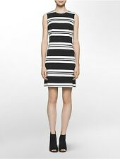 calvin klein womens variegated stripe shift dress