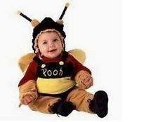 DISNEY WINNIE THE POOH BEAR BEE HALLOWEEN COSTUME INFANT SIZE12 MONTHS 1 YEAR
