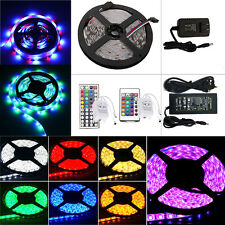 5M 300 LED Flexible RGB Strip 3528/5050 SMD Waterproof Power Supply IR Control