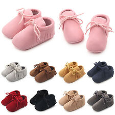 SM Cute Newborn Boys Tassel Shoes Girls Baby Soft Infant Sole Toddle Sneaker