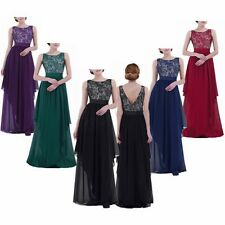Women Formal Wedding Evening Party Cocktail Bridesmaid Ball Gown Dress  S-3XL