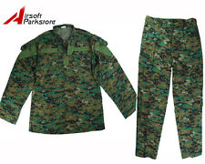 Military Special Force Army Tactical BDU Uniform Shirt & Pants Digital Woodland